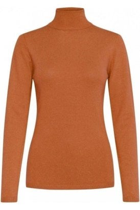 Ichi Rollneck Jumper Ginger Bread