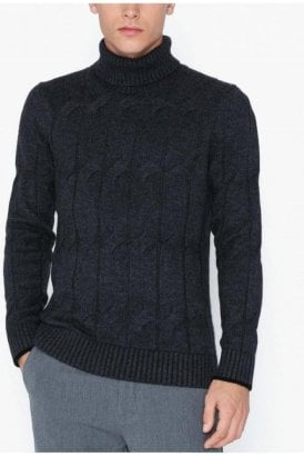 Roll Neck Anthracite/black