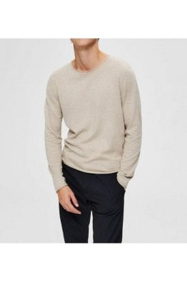 Merino Crew Neck Light Sand Melange