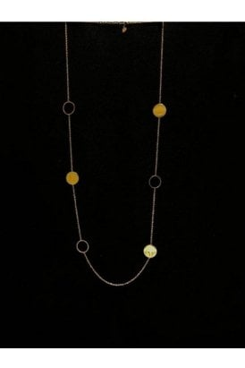 Circle Geo Necklace Gold