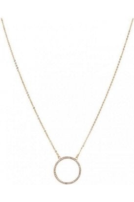 Necklace Gold Cubic Zirconia Circle