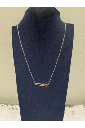 Necklace Gold Multi Bar
