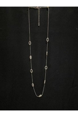 Oval Necklace Silver