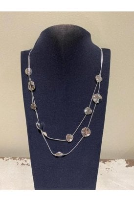 Necklace Silver Abstract Discs