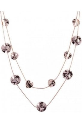 Necklace Rose Gold Abstract Discs