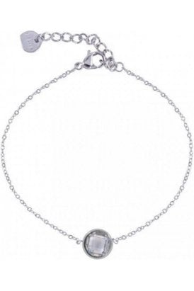 D&x London Bracelet Silver Round Crystal