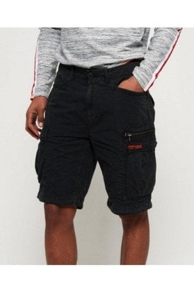 Parachute Cargo Short Washed Black
