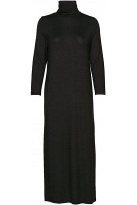 Roll Neck Dress Black