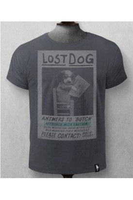 Lost Dog Tee Charcoal