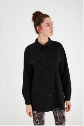 Ihkate Seam Blazer Shirt Black