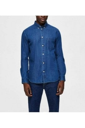 Selected Slhregross Shirt Dark Blue