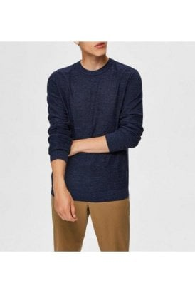 Selected Slhbuddy Crew Neck Dark Sapphire