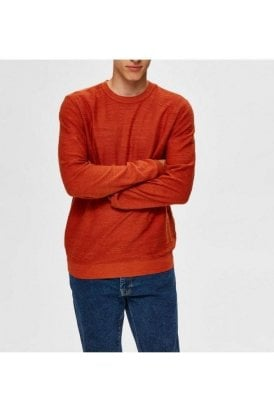 Selected Slhbuddy Crew Neck Ketchup Melange