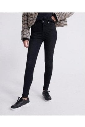 Superdry High Rise Skinny Black