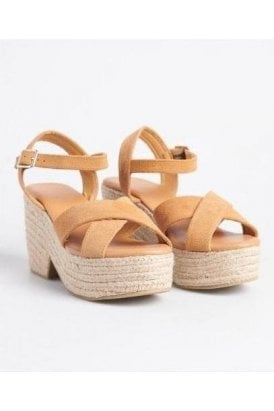 Superdry High Espadrille Sandal Biscuit