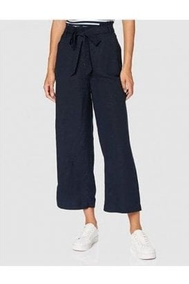 Superdry Eden Linen Trousers Atlantic Navy