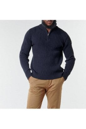 Schott Eco 1/2 Zip Sweater Navy