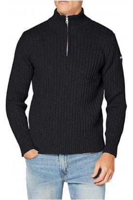 Schott Eco 1/2 Zip Sweater Anthracite