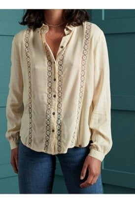 Amelie Lace Shirt Off White