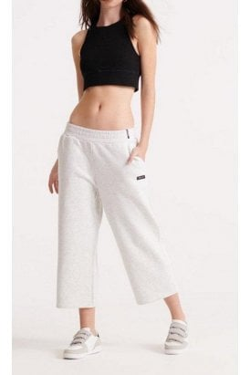 Edit Wide Leg Crop Jogger Grey Marl