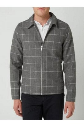 Casual Friday Jan Wool Checked Jacket Light Grey Melange