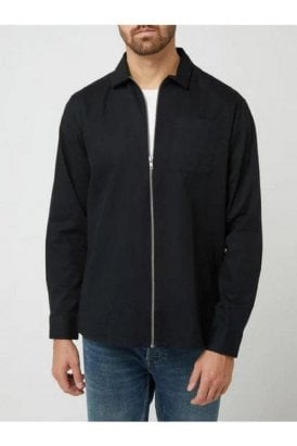 Casual Friday Alvin Overshirt Anthracite/black