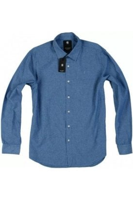 Gstar L/s Straight Shirt Imperial Blue