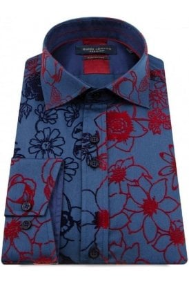Guide London Shirt Navy/red