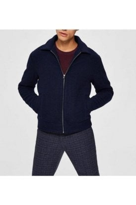 Selected Slhlincoln Wool Jkt Maritime Blue