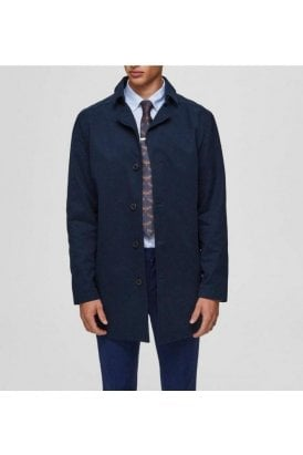Selected Slhnewtimes Cotton Coat Sky Captain