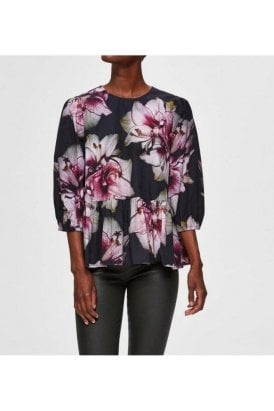 Selected Femme Slfesther Ls Top Black
