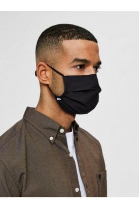 Selected Slh2-pack Adult Face Mask Black/navy
